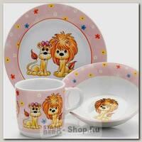 Набор детской посуды Loraine 26097 Лев, 3 предмета