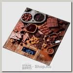 Весы кухонные Hottek Шоколад HT-962-026, электронные, до 7 кг, точность 1гр, 18х20 см