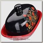 Масленка с крышкой Loraine 28418 Лесная ягода, керамика