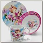 Набор детской посуды Loraine 24027 Ангел, 3 предмета